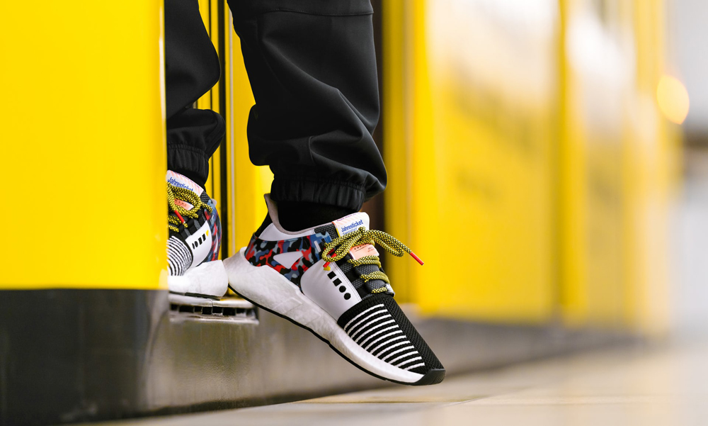 adidas EQT Support 93/Berlin sneakers train ticket BVG berlin collaboration