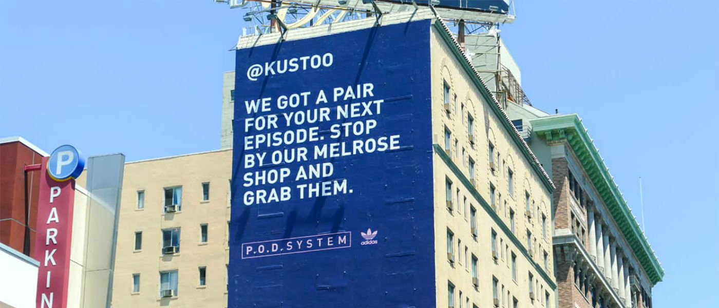 papel Ambos Mierda  Adidas Originals speaks to influencers via personalized billboards –  Current Daily
