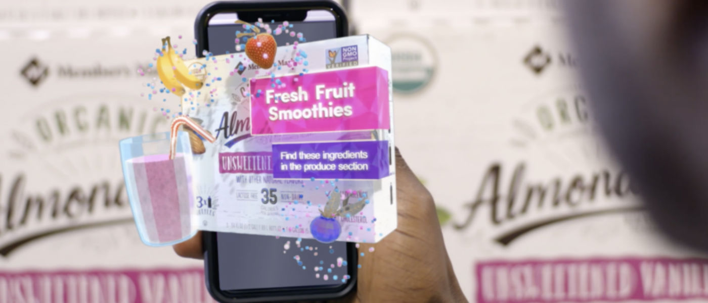 Augmented reality in the Sam's Club Now app