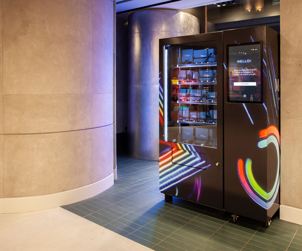 The #MulberryLights smart vending machine