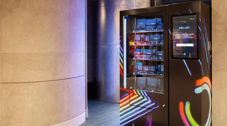 Mulberry's smart vending machine with TheCurrent Global
