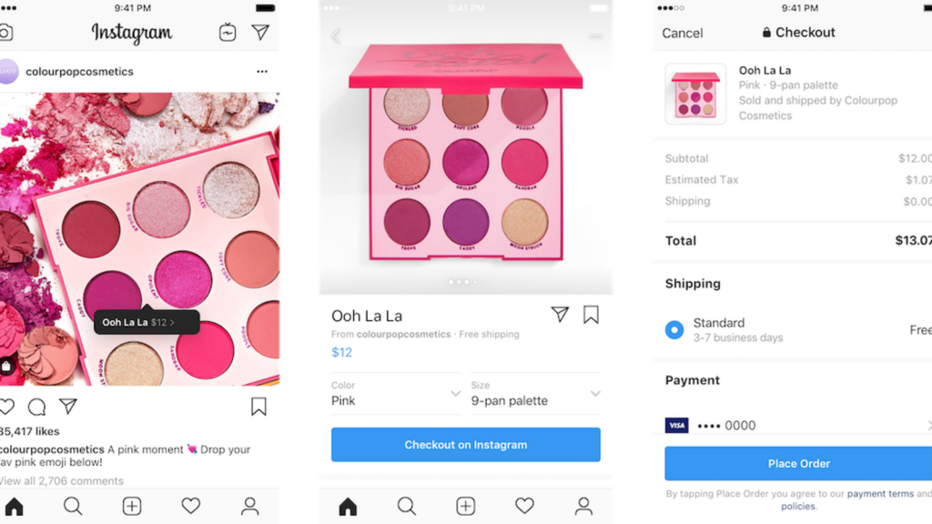 Instagram shopping feature Checkout Instagram