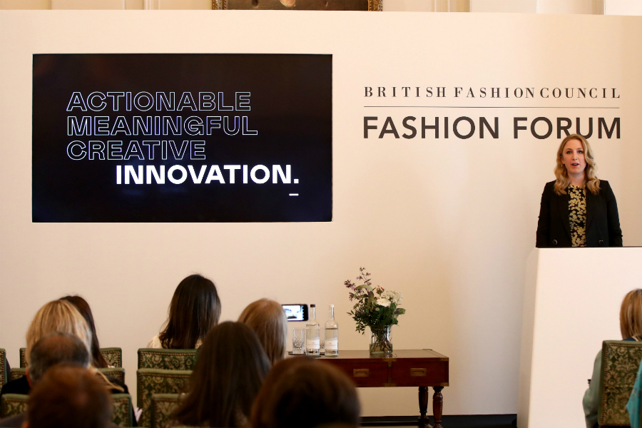 Rachel Arthur of Current Global at the British Fashion Council's annual Fashion Forum